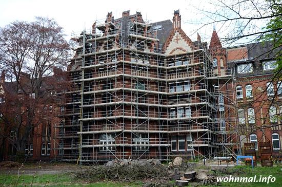 Bürgerhaus Charlottenburg: Renovierung des Huaptgebäudes