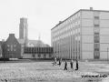 Auf dem Weg vom Askanierring zum Rathaus Spandau 1957