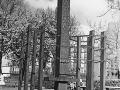Kriegsgefanenen-Mahnmal am Münsinger Platz in Spandau 1957
