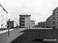 Nachkriegsneubauten an der Seegefelder Straße in Spandau 1957