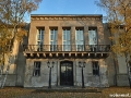US-Headquarter Dahlem: Eingang zu Haus 1 im Herbst 2011