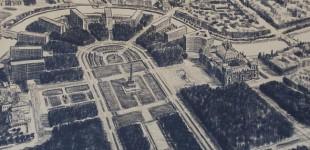 Entwurf des Berliner Architekten Hans Poelzig zur Erweiterung des Reichstages und Gestaltung des Platzes der Republik (1929)