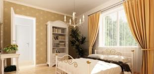 Visualisierung des Schlafzimmer eines Hauses im 2. Bauabschnitt der Preusensiedlung