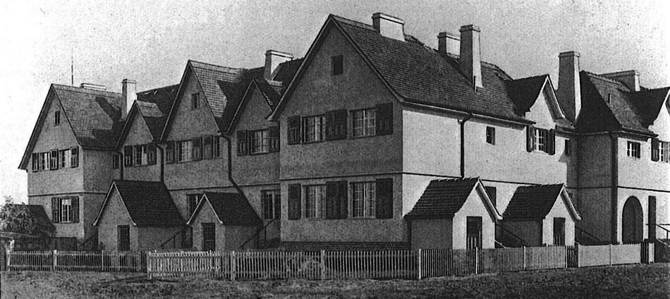 Ansicht Nordfassade des Muthesius-Bauabschnitts in der Preussensiedlung