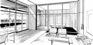 <i>Loftartiges Wohnen im Gästehaus: so könnte ein Wohnraum aussehen.<br>Zeichnung: Terraplan</i>
