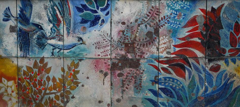 Keramikfries am Brunnen der Völkerfreundschaft