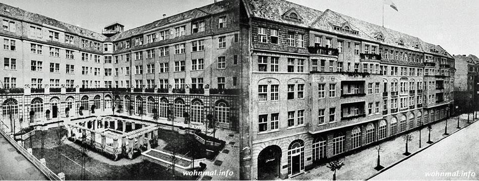 Der mittlere Innenhof und die Fassade Lietzenburger Straße