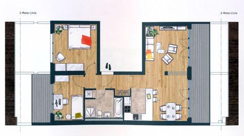 Grundriss Suite 17