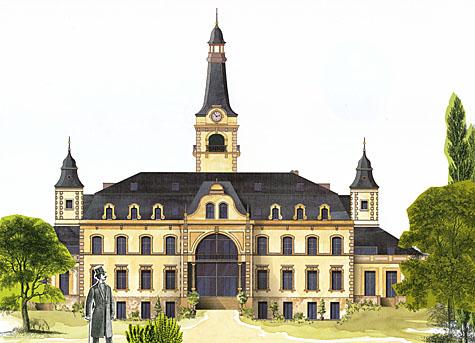 Schloss Güterfelde - Ansicht von Süden