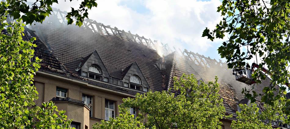 Haus Cumberland nach dem Brand