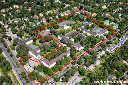Luftbild-Einstiges-US-Hauptquartier-Dahlem