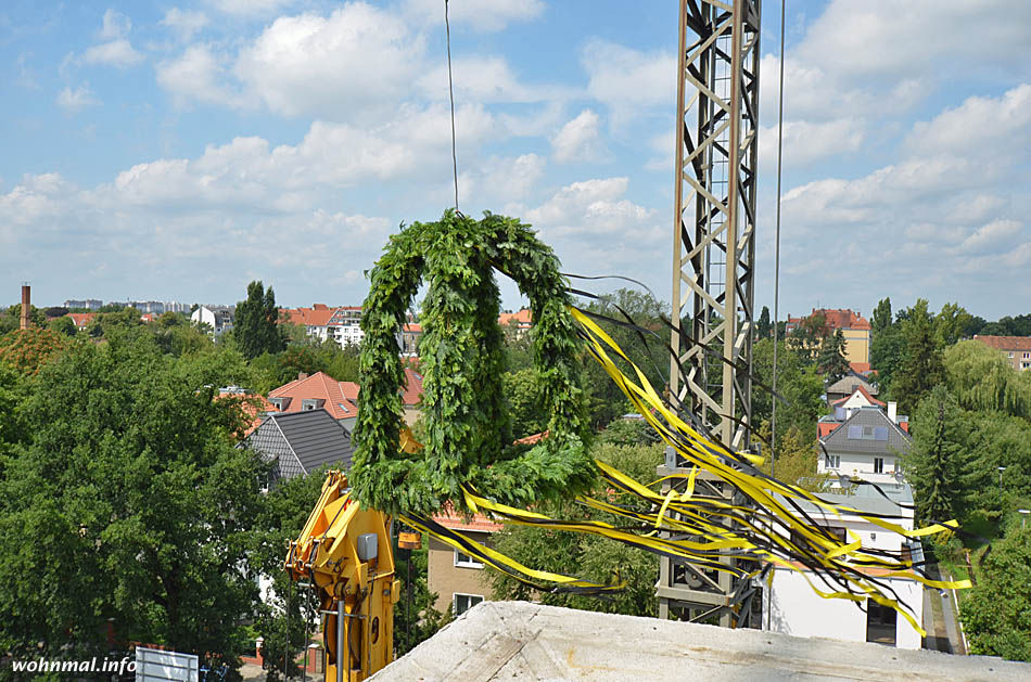 Richtfest am Schloßpark Schönhausen