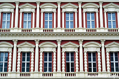 Hiller-Brandtsche Häuser Potsdam Fassaden-Ausschnitt