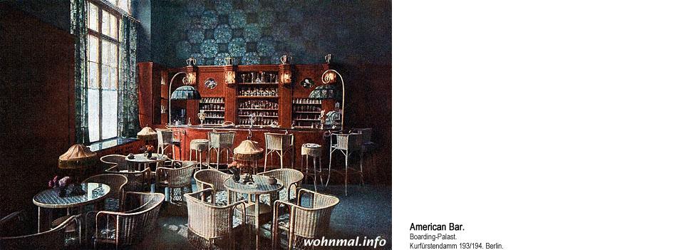 American Bar im Boarding-Palast Berlin 1913