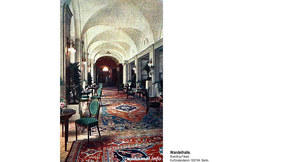 Wandelhalle im Boarding-Palast Berlin. 1913