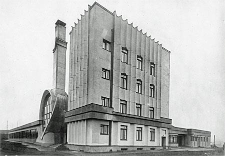 Geiles Design: das von Konstantin Melnikow und W. I. Kurotschkin errichtete Gosplan-Parkhaus im Jahr seiner Fertigsstellung (1936). Foto: © courtesy die Abteilung Fotografie des Staatlichen