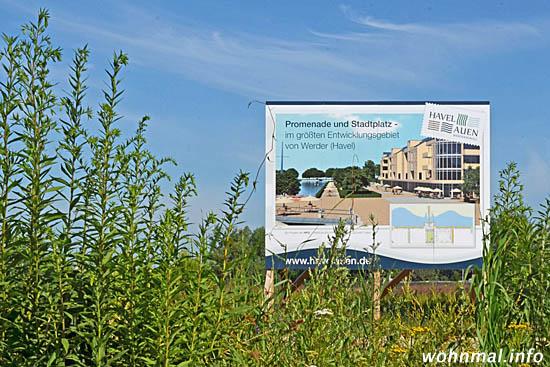 Am Südufer des Stichhafens beginnen die Bauarbeiten an der Promenade. Foto: Sven Hoch